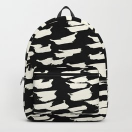 Tribal Paint - Ivory on Black Backpack