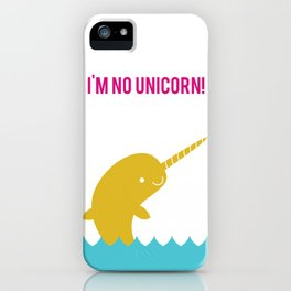 Hello Narwhal iPhone Case