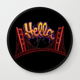 Hella - SF [Black] Wall Clock
