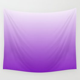 White to Violet Gradient Wall Tapestry