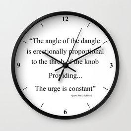 The Angle Wall Clock