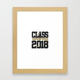 class of 2018 graduation grade senior 2018 new student love art gold hot Framed Art Print