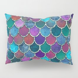 Colorful Mermaid Scales Pillow Sham