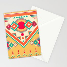 Colorful Ethnic Bohemian Pattern Stationery Cards