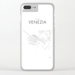 Venezia - City Map - Daniele Drigo Clear iPhone Case
