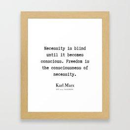 29  | Karl Marx Quotes | 190817 Framed Art Print