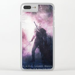 Geralt of Witcher Wild Hunt Clear iPhone Case