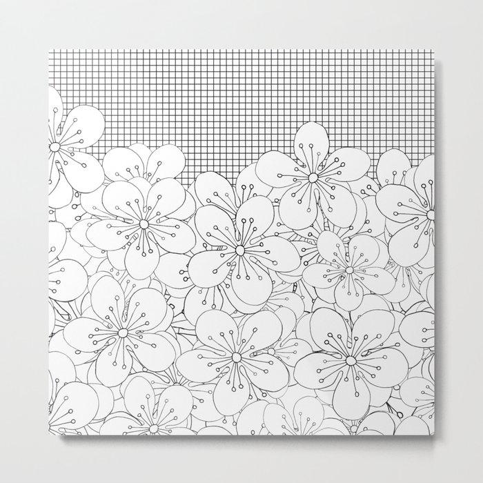 Cherry Blossom Grid - In Memory of Mackenzie Metal Print