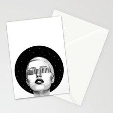 Consumerism space Stationery Cards