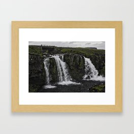 Kirkjufellsfoss Waterfall Upper Fall Framed Art Print