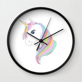 Unicorn cartoon Wall Clock