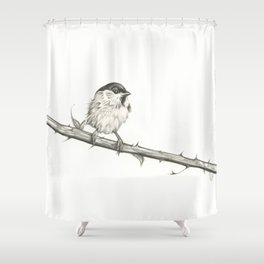 Milk-Warm Mewling of Chickadees Shower Curtain