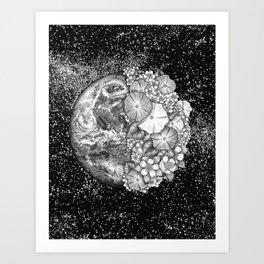 Earth Abloom Art Print