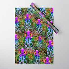 Octopus Psychedelic Luminescence Wrapping Paper