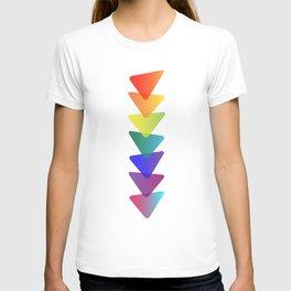 Geo-Stacked Rainbow T-shirt
