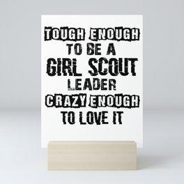 Scout Girl Mini Art Print
