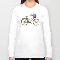 bike Long Sleeve T-shirts featuring Bike by Juliana Zimmermann