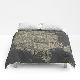 Las Vegas Map #1 Comforters