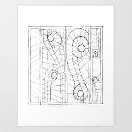 Original Sketch Series - Erosion Patterning Art Print