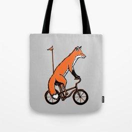 Fox on bike Tote Bag