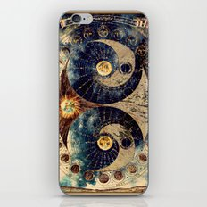Lunar Phases Celestial Map iPhone Skin