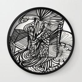Pilar of Zentangle Wall Clock