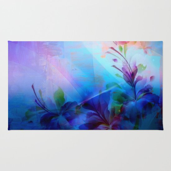 Sunset Painterly Floral Rug