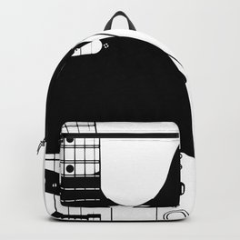 Electric Guitar Drawing Backpack
