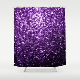Beautiful Dark Purple glitter sparkles Shower Curtain
