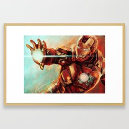 Big man in a suit of armor Framed Art Print