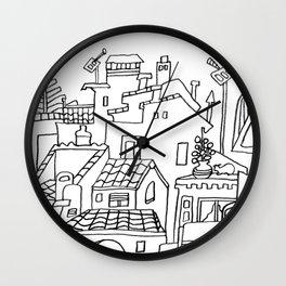 Benalmadena Village On The Coast of Sunshine Wall Clock