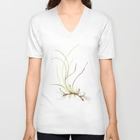 marina V-neck T-shirts featuring Zostera marina by Sandra Ovono - Watercolor Art Studio