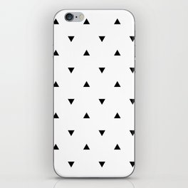 Black and white Triangles geometric pattern iPhone Skin