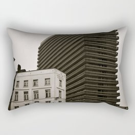 Surrealist City in Black and White Rectangular Pillow