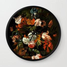 "Ernst Stuven ""Flower still life"" Wall Clock"