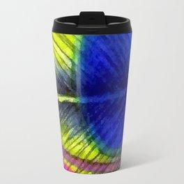 Violet Fringed with Golden Amber Travel Mug
