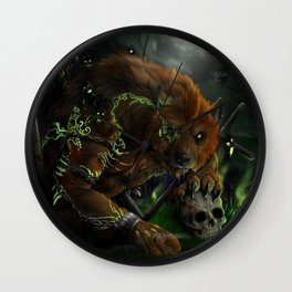 Evocation of the beast Wall Clock