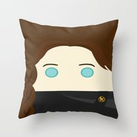 jennifer lawrence Throw Pillows featuring Jennifer Lawrence by heartfeltdesigns by Telahmarie