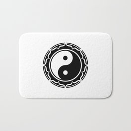 Yin Yang Lotus Flower Bath Mat