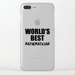 worlds best at maths Clear iPhone Case