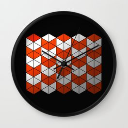Metallic Stack Wall Clock