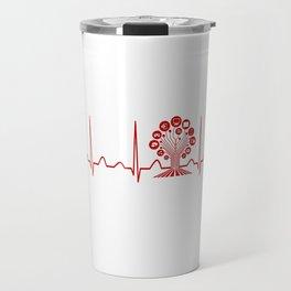 Technology Teacher Heartbeat Travel Mug