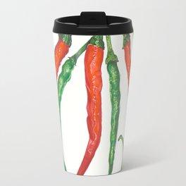 Watercolor Hot Peppers Travel Mug