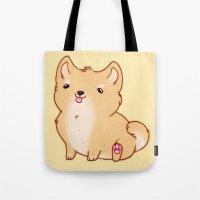 shiba Tote Bags featuring Shiba Inu by Berneri