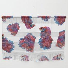 Ocean Theme- Red Blue Betta Fish Wall Hanging