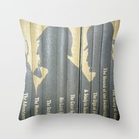 conan Throw Pillows featuring Sherlock Holmes by Sir Arthur Conan Doyle by Madreflections