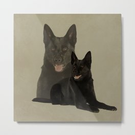 Black German Shepherd Dog - GSD Metal Print