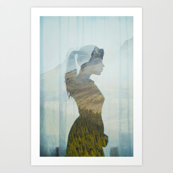 Profile. Art Print