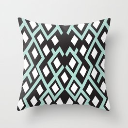 Cubed Lines Throw Pillow