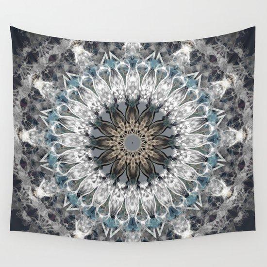 Gray, blue Mandala by luciena